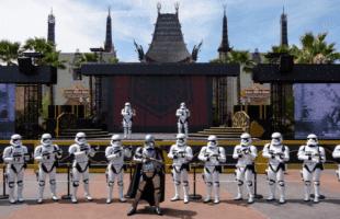 Stormtroopers leaving hollywood studios