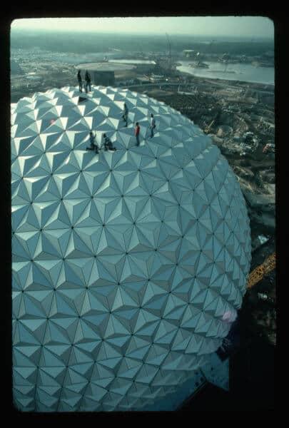 Epcot Spaceship Earth Construction, 1982