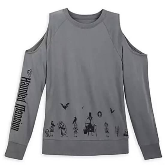 shopDisney Haunted Mansion 50th cold shoulder shirt