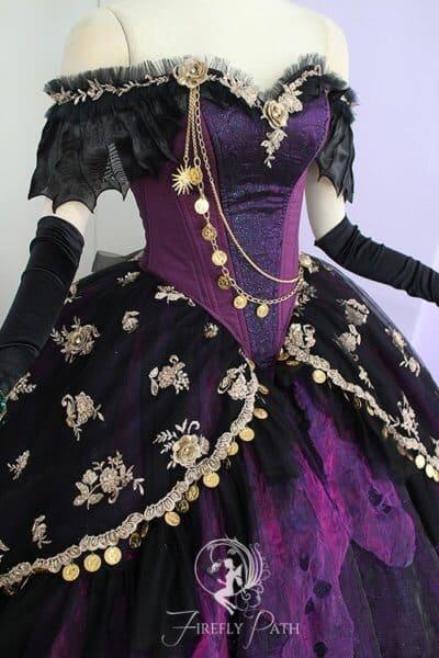 Madame Leota Gown close up