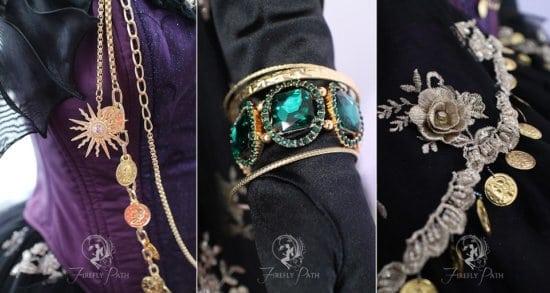 Madame Leota gown detail