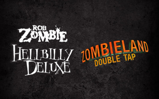 Zombieland and Hellbilly Deluxe logos from HHN29