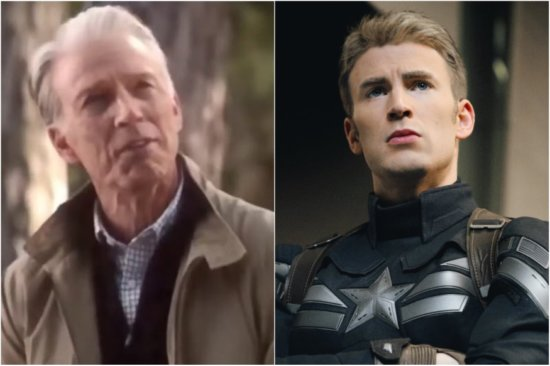 Captain america old and young
