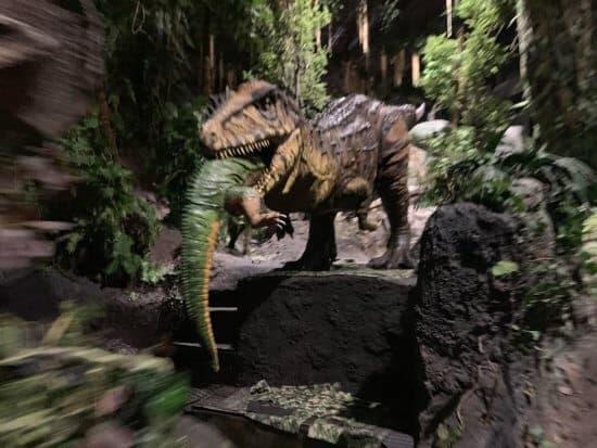 Dinosaur with lights on at Animal Kingdom