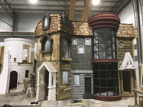 Harry Potter Wendy house under construction