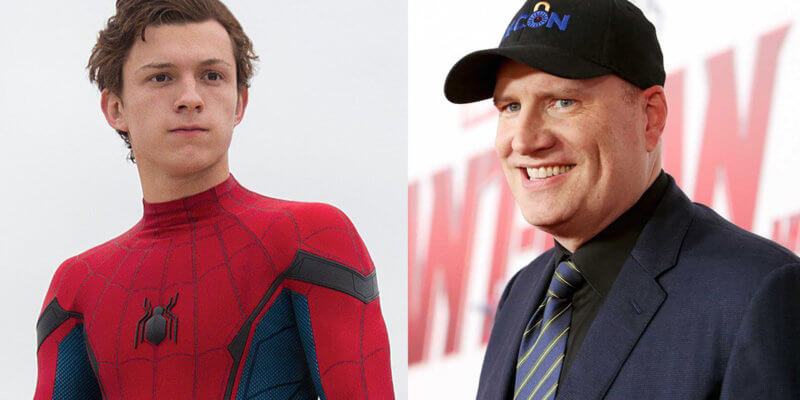 """Tom Holland """"Spider-Man"""" and Kevin Feige"""