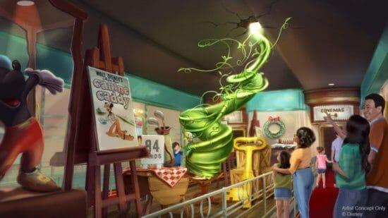 The interior of Mickey and Minnie's Runaway Railway