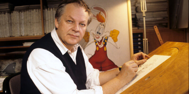 Richard Williams with his creation Roger Rabbit
