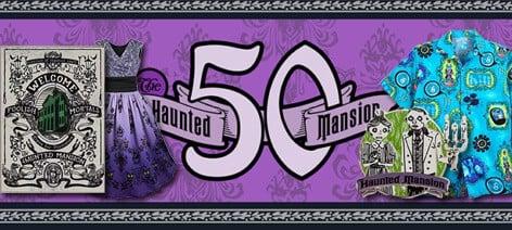 Haunted Mansion 50th merch