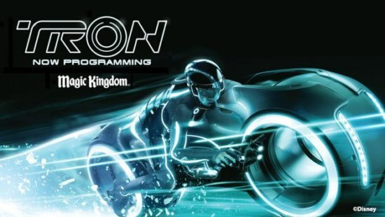 TRON lightcycle ride vehicle