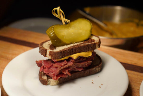 Pastrami on Rye with House-made Pickles and Deli Mustard