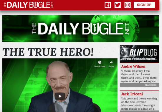 Daily Bugle website