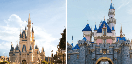 disney world disneyland castles