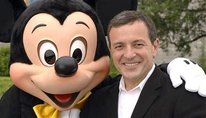 Bob Iger and Mickey Mouse