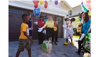 Boy surprised with Disney World trip