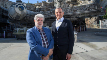 George Lucas and Bob Iger
