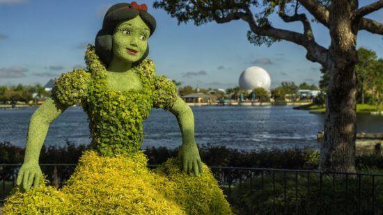 epcot flower and garden snow white topiary