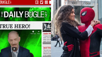 Daily Bugle Website and Spider-Man