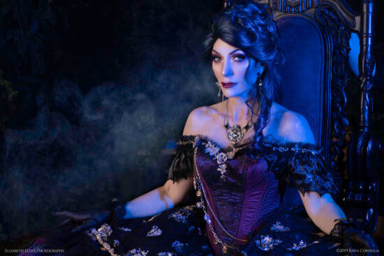 Madame Leota Gown Throne close up