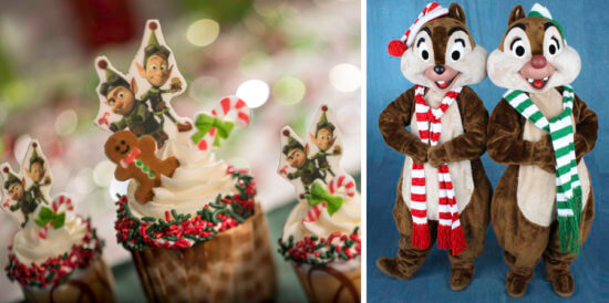 chip and dale at disney holiday dessert party