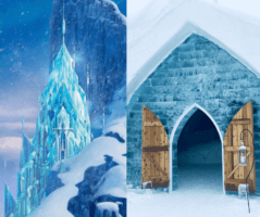 disney castle elsa frozen