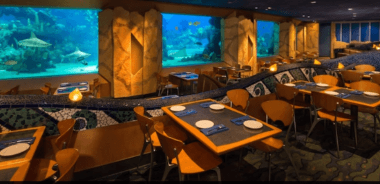epcot coral reef restaurant seating area