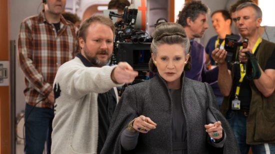 Rian Johnson on set Star Wars
