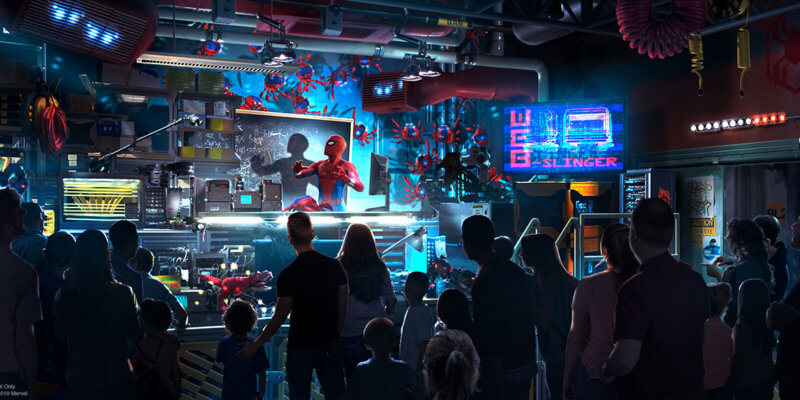 Spider-Man attraction at Disney California Adventure