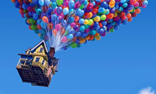 pixar up house with balloons
