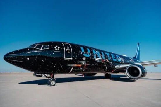 United Star Wars themed jet