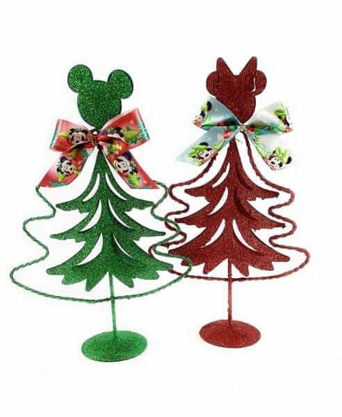 """Disney Mickey and Minney Metal Xmas Tree 8"""" 6 Pack"""