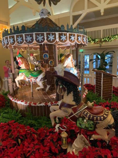 Moving Gingerbread Merry-Go-Round, Beach Club Resort