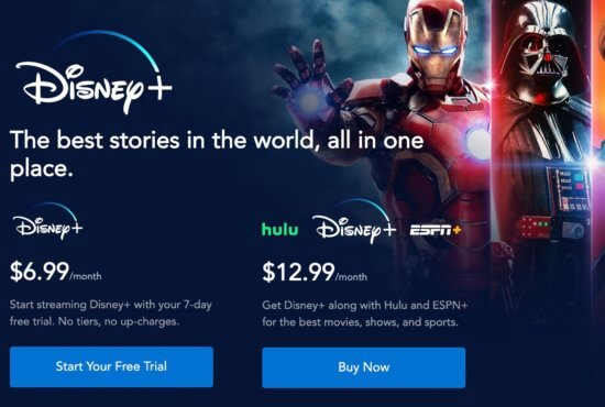 Disney Plus Front Page