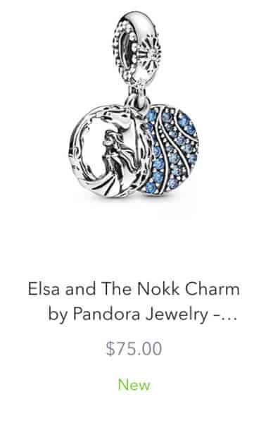 Elsa Nokk Pandora Charm