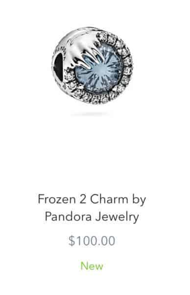 Frozen 2 Pandora Charm