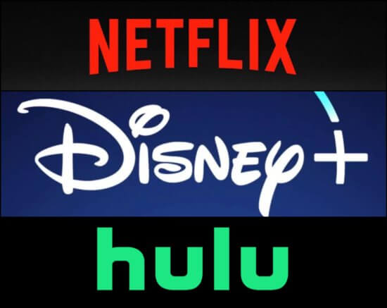 Streaming services logogs