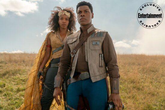 STAR WARS: THE RISE OF SKYWALKER Naomi Ackie as Jannah and John Boyega as Finn