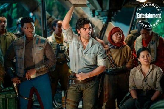 STAR WARS: THE RISE OF SKYWALKER John Boyega as Finn, Oscar Isaac as Poe Dameron and Kelly Marie Tran as Rose