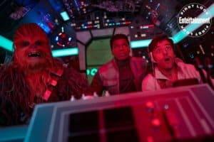 STAR WARS: THE RISE OF SKYWALKER Joonas Suotamo as Chewbacca, John Boyega as Finn and Osacr Isaac as Poe Dameron
