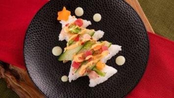 Festival of the Holidays sushi tree
