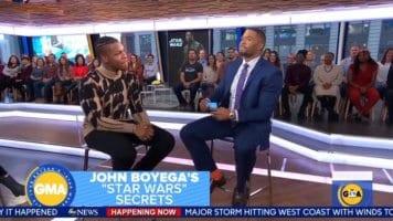 John Boyega at GMA