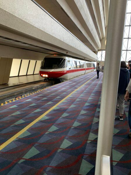 Monorail Red arriving at Disney's Contemporary Resort
