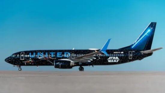Star Wars themed jet light side