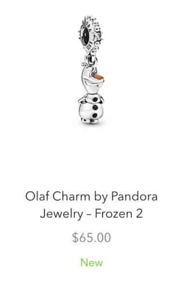 Pandora Olaf Charm