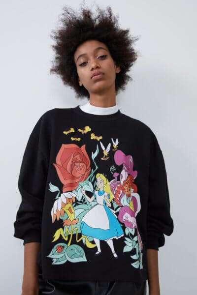 Zara Alice in Wonderland sweatshirt