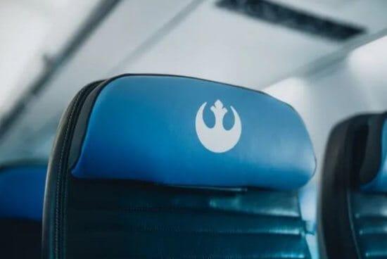Star Wars themed jet blue seat