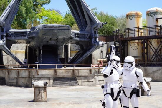 First Order Troopers at Galaxy's Edge
