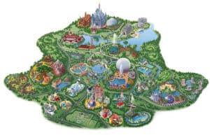 Retro Map of Walt Disney World