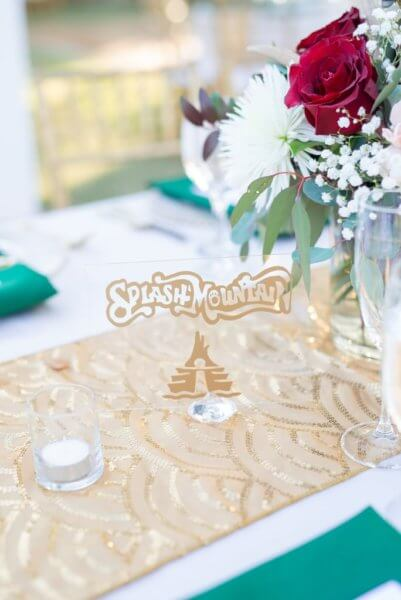 disney attraction table setting