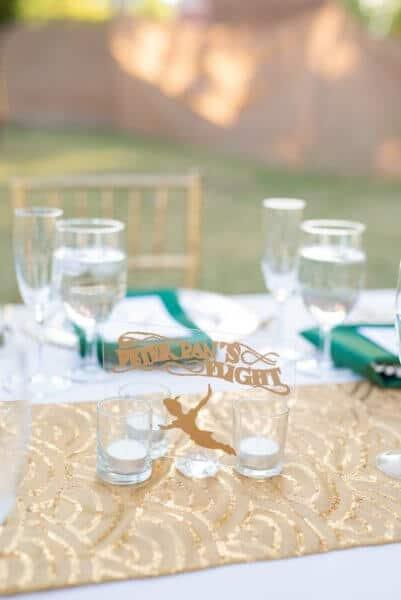 disney wedding table setting